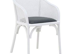 Καρέκλα Ξύλινη inart 55x56x80εκ. 3-50-941-0002 (Υλικό: Ξύλο, Χρώμα: Λευκό) – inart – 3-50-941-0002