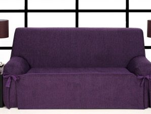 Καλύμματα καναπέ σταθερά με δέστρες Kioto-Διθέσιος-Μωβ-10+ Χρώματα Διαθέσιμα-Καλύμματα Σαλονιού