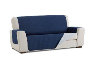 Σταθερά Καλύμματα Διπλής Όψης Universal Quilt – Μπλε/Γκρι – Πολυθρόνα-10+ Χρώματα Διαθέσιμα-Καλύμματα Σαλονιού