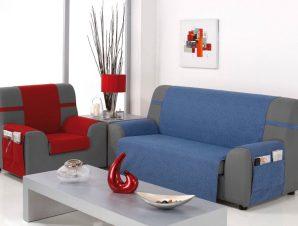 Καλύμματα καναπέ Universal Banes-Πολυθρόνα-Μπλε-10+ Χρώματα Διαθέσιμα-Καλύμματα Σαλονιού