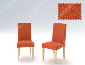 Σετ (2 Τμχ) Ελαστικά Καλύμματα Καρεκλών Με Πλάτη Valencia-Πορτοκαλί