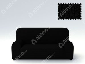 Ελαστικά Καλύμματα Καναπέ Creta – C/11 Μαύρο – Πολυθρόνα-10+ Χρώματα Διαθέσιμα-Καλύμματα Σαλονιού