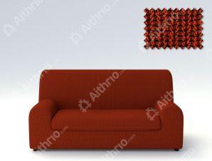 Ελαστικά Καλύμματα Καναπέ Ξεχωριστό Μαξιλάρι Creta – C/16 Κεραμιδί – Πολυθρόνα-10+ Χρώματα Διαθέσιμα-Καλύμματα Σαλονιού