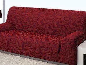 Ελαστικά καλύμματα καναπέ Danubio-Διθέσιος-Μπορντώ-10+ Χρώματα Διαθέσιμα-Καλύμματα Σαλονιού