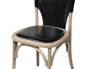 Καρέκλα Ξύλινη-PU Μαύρη ESPIEL 50x53x89εκ. REK102 (Υλικό: Ξύλο, Χρώμα: Μαύρο) – ESPIEL – REK102