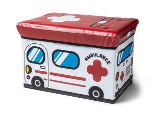 """Σκαμπώ – Κουτί Αποθήκευσης """"Ασθενοφόρο"""" 49x31x31εκ. ESPIEL PVC103 – ESPIEL – PVC103"""