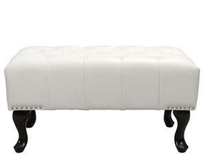 Ταμπουρέ Υποπόδιο Pu Λευκό Ματ 80x46x42εκ. Freebox FB9226.02 (Υλικό: PU, Χρώμα: Λευκό) – Freebox – FB9226.02