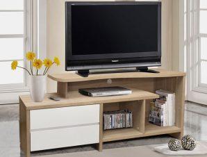 Έπιπλο Τηλεόρασης Με 2 Συρτάρια Μελαμίνης Sonama-Λευκό 148x40x60εκ. Freebox FB92212.01 (Υλικό: Μελαμίνη, Χρώμα: Λευκό) – Freebox – FB92212.01