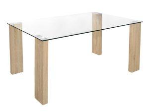 Τραπέζι Γυάλινο-Ξύλινο Sonama 140x80x75εκ. Freebox FB90083.01 (Υλικό: Ξύλο, Χρώμα: Sonama) – Freebox – FB90083.01