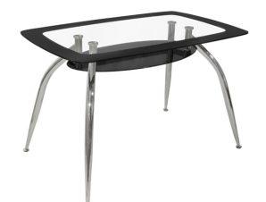 Τραπέζι Γυάλινο Μαύρο 120x75x75εκ. Freebox FB90086.02 (Υλικό: Γυαλί, Χρώμα: Μαύρο) – Freebox – FB90086.02