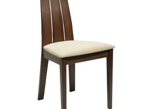 Καρέκλα Ξύλινη Μασίφ-Υφασμάτινη Καρυδί-Εκρού 45x53x96Υεκ. Freebox FB90094.01 (Υλικό: Ξύλο, Χρώμα: Εκρού ) – Freebox – FB90094.01