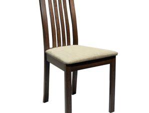 Καρέκλα Ξύλινη Μασίφ-Υφασμάτινη Καρυδί-Εκρού 45x52x96,5Υεκ. Freebox FB90093.01 (Υλικό: Ξύλο, Χρώμα: Εκρού ) – Freebox – FB90093.01