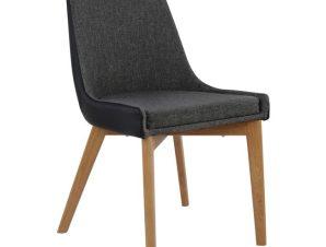 Καρέκλα Μεταλλική-Υφασμάτινη-Pu Γκρι-Μαύρη 49x55x87Υεκ. Freebox FB90142.01 (Υλικό: Μεταλλικό, Χρώμα: Μαύρο) – Freebox – FB90142.01
