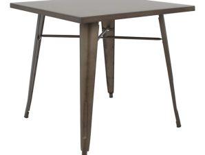 Τραπέζι Μεταλλικό Rusty Freebox 80x80x76εκ. FB90608.04 (Υλικό: Μεταλλικό) – Freebox – FB90608.04