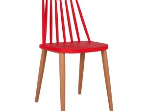 Καρέκλα Τραπεζαρίας Μεταλλική-Πολυπροπυλενίου Κόκκινη 42,5x47x81,5εκ. Freebox FB98052.07 (Υλικό: Μεταλλικό, Χρώμα: Κόκκινο) – Freebox – FB98052.07