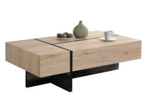 Τραπέζι Σαλονιού Ξύλινο Sonama-Μαύρο 110x60x35,5εκ. FB98102 (Υλικό: Mdf, Χρώμα: Μαύρο) – Freebox – FB98102
