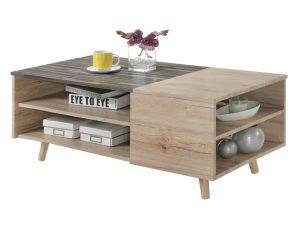 Τραπέζι Σαλονιού Ξύλινο Sonama-Γκρι 110x55x45εκ. Freebox FB98104 (Υλικό: Mdf, Χρώμα: Γκρι) – Freebox – FB98104