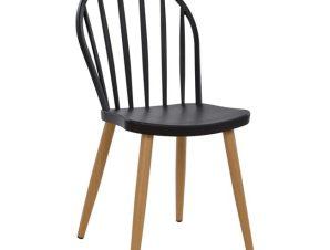 Καρέκλα Πολυπροπυλενίου Μαύρη 47×50,5×93εκ. Freebox FB98118.02 (Υλικό: Πολυπροπυλένιο, Χρώμα: Μαύρο) – Freebox – FB98118.02