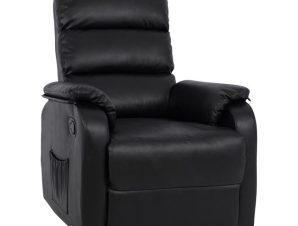 Πολυθρόνα Pu Με Μηχανισμό Massage Μαύρη 78x97x97εκ. Freebox FB98316.01 (Υλικό: PU, Χρώμα: Μαύρο) – Freebox – FB98316.01