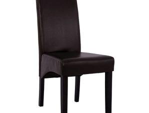 Καρέκλα Ξύλινη-Pu Καφέ 47x60x99εκ. Freebox FB98328.01 (Υλικό: Ξύλο, Χρώμα: Καφέ) – Freebox – FB98328.01