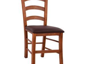 Καρέκλα Με Καρυδί Λούστρο Και Καφέ Pu 43x40x88εκ. Freebox FB95584 (Υλικό: PU, Χρώμα: Καφέ) – Freebox – FB95584