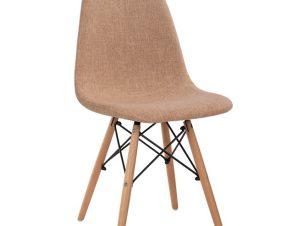 Καρέκλα Μεταλλική Με Ξύλινα Πόδια Και Υφασμάτινο Κάθισμα Μπεζ 44x53x81,5εκ. Freebox FB90126.53 (Υλικό: Ξύλο, Χρώμα: Μπεζ) – Freebox – FB90126.53