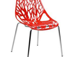 Καρέκλα Μεταλλική-Πολυπροπυλενίου Κόκκινη-Χρωμίου 54x57x81εκ. Freebox FB90023.14 (Υλικό: Μεταλλικό, Χρώμα: Κόκκινο) – Freebox – FB90023.14