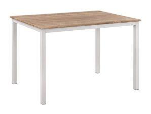 Τραπέζι Τραπεζαρίας Μεταλλικό-Ξύλινο Sonama-Λευκό 110x70x76εκ. Freebox FB98332.02 (Υλικό: Μεταλλικό, Χρώμα: Λευκό) – Freebox – FB98332.02