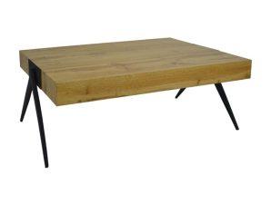 Τραπέζι Σαλονιού Mdf Με Μεταλλικά Πόδια 115Χ60Χ42Υεκ. Freebox FB98539.01 (Υλικό: Μεταλλικό, Χρώμα: Μαύρο) – Freebox – FB98539.01
