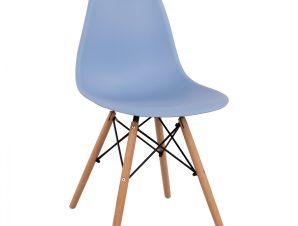 Καρέκλα Πολυπροπυλενίου Γαλάζιο Με Ξύλινα Πόδια 46x50x82εκ. Freebox FB98460.08 (Υλικό: Ξύλο, Χρώμα: Γαλάζιο ) – Freebox – FB98460.08