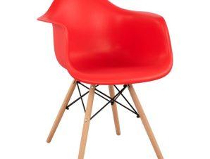 Πολυθρόνα Πολυπροπυλενίου Κόκκινη Με Ξύλινα Πόδια 61x60x84εκ. Freebox FB9005.08 (Υλικό: Ξύλο, Χρώμα: Κόκκινο) – Freebox – FB9005.08