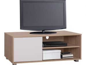 Έπιπλο Τηλεόρασης Μελαμίνης Sonama-Λευκό 120x40x41εκ. Freebox FB92340.01 (Υλικό: Μελαμίνη, Χρώμα: Λευκό) – Freebox – FB92340.01