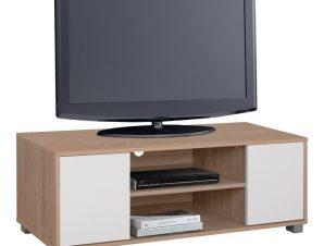 Έπιπλο Τηλεόρασης Μελαμίνης Sonama-Λευκό 120x40x41εκ. Freebox FB92341.01 (Υλικό: Μελαμίνη, Χρώμα: Λευκό) – Freebox – FB92341.01