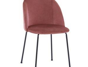 Καρέκλα Βελούδινη Σάπιο Μήλο Με Μεταλλικά Πόδια Μαύρα 50x54x79Υεκ. Freebox FB98545.02 (Υλικό: Μεταλλικό, Ύφασμα: Βελούδο, Χρώμα: Σάπιο Μήλο ) – Freebox – FB98545.02
