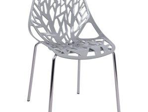 Καρέκλα Πολυπροπυλενίου Με Γκρι Κάθισμα 53x52x82Υεκ. Freebox FB90023.10 (Υλικό: Πολυπροπυλένιο, Χρώμα: Γκρι) – Freebox – FB90023.10