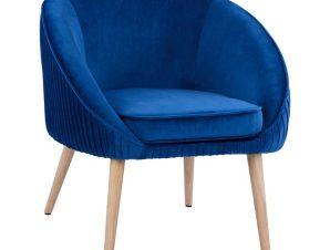 Πολυθρόνα Βελούδινη Μπλε 73x67x78Υεκ. Freebox FB98633.08 (Ύφασμα: Βελούδο, Χρώμα: Μπλε) – Freebox – FB98633.08