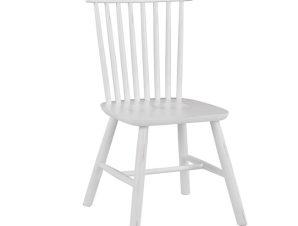 Ξύλινη Καρέκλα Antique Λευκή 48x54x86εκ. Freebox FB98645.03 (Υλικό: Ξύλο, Χρώμα: Λευκό) – Freebox – FB98645.03