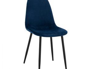 Καρέκλα Βελούδινη Μπλε Με Μεταλλικά Πόδια 43x54x88Υεκ. Freebox FB900100.08 (Υλικό: Μεταλλικό, Ύφασμα: Βελούδο, Χρώμα: Μαύρο) – Freebox – FB900100.08