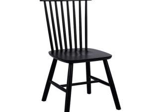 Καρέκλα Ξύλινη Μονταρισμένη Μαύρη Ματ 48x54x86εκ. Freebox FB98645.02 (Υλικό: Ξύλο, Χρώμα: Μαύρο) – Freebox – FB98645.02