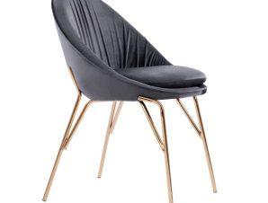 Καρέκλα Βελούδινη Γκρι Με Μεταλλικό Επίχρυσό Σκελετό 59x61x84,5εκ. Freebox FB98684.01 (Υλικό: Μεταλλικό, Ύφασμα: Βελούδο, Χρώμα: Γκρι) – Freebox – FB98684.01