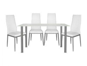 Σετ Τραπεζαρίας 5τμχ Με Τραπέζι 120x70x75εκ. & Καρέκλες Λευκό-Γκρι Freebox FB910061.11 (Υλικό: Μεταλλικό, Χρώμα: Λευκό) – Freebox – FB910061.11