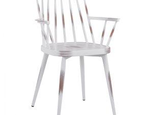 Πολυθρόνα Αλουμινίου Λευκή Πατίνα 60x50x82εκ. Freebox FB95555.02 (Υλικό: Αλουμίνιο, Χρώμα: Λευκό) – Freebox – FB95555.02