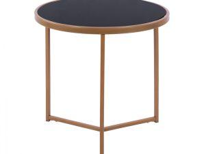 Τραπέζι Στρογγυλό Με Γυάλινη Επιφάνεια Και Μεταλλικό Χρυσό Mατ Σκελετό Φ52×53Υεκ. Freebox FB98696 (Υλικό: Μεταλλικό, Χρώμα: Χρυσό ) – Freebox – FB98696