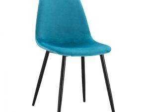 Καρέκλα Βελούδινη Τυρκουάζ Με Μεταλλικά Πόδια 45x53x85Υεκ. Freebox FB900100.18 (Υλικό: Μεταλλικό, Ύφασμα: Βελούδο, Χρώμα: Τυρκουάζ) – Freebox – FB900100.18