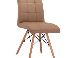 Καρέκλα Με Ξύλινα Πόδια & Κάθισμα Cappuccino 43x57x84Υεκ. Freebox FB90024.23 (Υλικό: Ξύλο, Χρώμα: Καπουτσίνο) – Freebox – FB90024.23