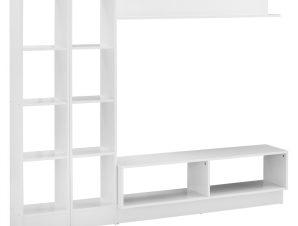 Σύνθεση Τηλεόρασης Μελαμίνης Λευκή 181×29,5×145εκ. Freebox FB92256 (Υλικό: Μελαμίνη, Χρώμα: Λευκό) – Freebox – FB92256