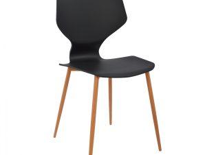 Καρέκλα Πολυπροπυλενίου Μαύρη Με Μεταλλικά Πόδια Arete 47×45,5×85εκ. Freebox FB98002.02 (Υλικό: Μεταλλικό, Χρώμα: Μαύρο) – Freebox – FB98002.02