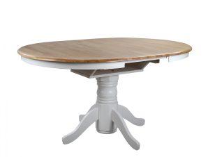 Τραπέζι Country Style Ξύλινο Λευκό Φ106(+40)x78Υεκ. Freebox FB90161 (Υλικό: Ξύλο, Χρώμα: Λευκό) – Freebox – FB90161