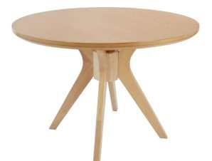 Τραπέζι Ξύλινο Λευκό Φ110×76Υεκ. Freebox FB90159.01 (Υλικό: Ξύλο, Χρώμα: Λευκό) – Freebox – FB90159.01