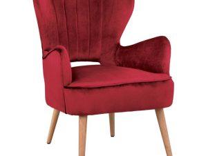 Μπερζέρα Πολυθρόνα Μεταλλική-Βελούδινη Κόκκινη 66x75x91Υεκ. Freebox FB98394.06 (Υλικό: Ξύλο, Ύφασμα: Βελούδο, Χρώμα: Κόκκινο) – Freebox – FB98394.06